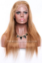 Blending Color Brown Blonde 27/30# Full Lace Wigs Chinese Virgin Hair Light Yaki﹛Not In Stock,Need 30 Working Days To Process﹜