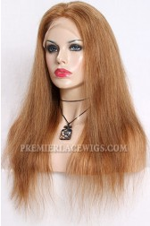 Blending Color Brown Blonde 27/30# Lace Front Wigs Chinese Virgin Hair Straight { Not In Stock,Production Time 30 working days }