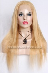 Mixed Blonde Color 27/613# Full Lace Wigs Chinese Virgin Hair Natural Straight