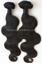 Body Wave Natural Color Peruvian Virgin Hair Weave 2 Bundles Hair Deal