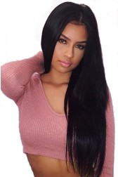 Brazilian Virgin Hair Silky Straight Improved 360°Anatomic Lace Wigs,150% Thick Density ,Pre-Plucked Hairline