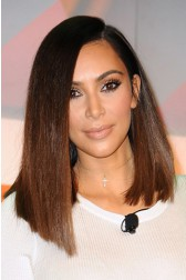 Kim K Style Ombre Hair Asymmetrical Bob Lace Wig [Pre-Bleached Knots,Pre-Plucked Hairline,Removable Elastic Band]