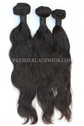 3 Bundles Deal Peruvian Virgin Hair Natural Color Natural Wave Hair Extension