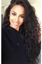 Long Curly 360 Lace Wigs, Brazilian Virgin Hair Wig,150% Thick Hair Density,Pre-plucked Hairline