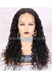 Clearance 360 Lace Frontal Wig,Wet Wavy, Natural Color,Indian Remy Hair,22 inches,180% Density,Medium Cap Size,Dark Brown Lace,Pre-plucked Hairline,Removable Elastic Band