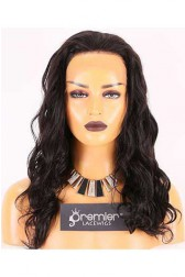 Clearance Lace Front Wig,Loose Curly,Indian Remy Hair,1B#,16 inches,150% Density,Average Size,Medium Lace