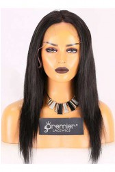 Clearance Lace Front Wig,Indian Remy Hair,Straight,1B#,16 inches,130% Density,Average Size, Medium Brown Lace