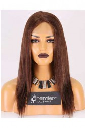 Clearance Full Lace Wig,Indian Remy Hair,Silky Straight,4#,14 inches,120% Normal Density,Medium Size,Transparent Lace