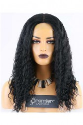 Clearance Silk Top Full Lace Wig,Loose Deep Wave,Indian Remy Hair,1# Color,16 inches,130% Density,Medium Cap Size