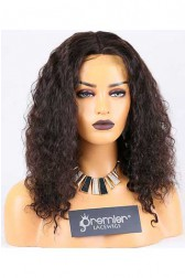 Clearance Silk Top Full Lace Wig,Brazilian Curl,Brazilian Virgin Hair,Natural Color,16 inches,120% Normal Density,Medium Cap Size,Medium Brown Silk