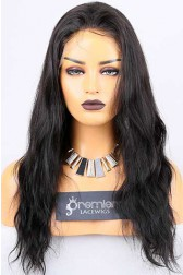Clearance Full Lace Wig Natural Straight,Indian Remy Hair,1B# Color,18 inches,120% Normal Density,Large Cap Size,Light Brown Lace