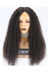 Clearance Silk Top Full Lace Wig,10mm Curl,Indian Remy Hair,Natural Color,22 inches,180% Density,Medium Cap Size