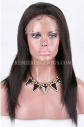 Clearance Glueless Lace Front Wig,Yaki Straight,Indian Remy Hair,Natural Color,12inches,250% Density,Medium size,Medium Brown Lace