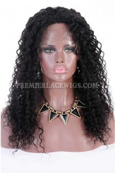 Clearance Full Lace Wig,1B# Off Black,20 inches,Big Curl,Brazilian Virgin Hair,Small Cap Size,120% Density