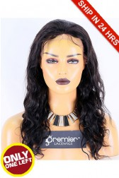 Super Deal 50% Off Natural Curl Lace Frontal Wig, Indian Remy Hair 1B# 16 inches 130%, Medium Size, Medium Brown lace