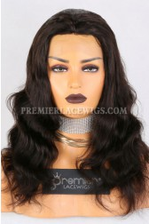 Clearance Glueless Silk Top Full Lace Wig,Body Wave,Indian Remy Hair,2# Color,16 inches,120% Density,Small Cap Size