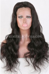 Clearance Glueless Silk Top Full Lace Wig,Body Wave,Indian Remy Hair,1B# Color,22 inches,120% Density,Medium Cap Size
