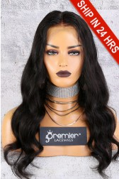 "Affordable 13x6 inches Lace Frontal Wig,Wavy Style 20"" Indian Remy Hair Natural Color,150% Thick Density [Advanced Pre-Bleached Knots,Pre-Plucked Hairline,Pre-Added Removable Elastic Band]"