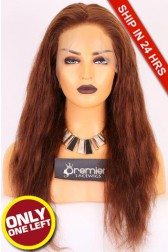 """Super Deal 4.5"""" Lace 360 Wig,Indian Remy Hair,4# Color,20 inches Natural Straight 150% Thick Density, Medium Size,Light Brown Lace"""