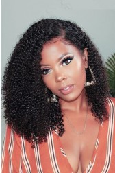 "Angela--Invisible Knots,Super Thin Transparent HD Lace,13""x 6"" Lace Frontal Wig, Afro Kinky Curly, Pre-Plucked Hairline, Removable Elastic Band"