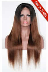 Kardashian Style Ombre Brown Hair Lace Front Wig