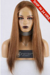 Clearance Sale HD Transparent Lace Full Lace Wig Straight,Chinese Virgin Hair,30/27# 18 inches, Medium Size