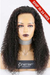 """Super Deal 4.5"""" Lace 360 Wig,Indian Remy Hair Natural Color,22 inches Water Wavy 150% Thick Density, Medium Size,Light Brown Lace."""