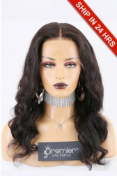 Super Deal 13x6 Lace Front Wig,Indian Remy Hair Natural Color,18 inches Wavy 150% Thick Density, Average Size [Pre-Bleached Knots,Pre-Plucked Hairline,Removable Elastic Band]