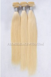 613# Blonde Indian Virgin Hair Weaves Silky Straight 3 Bundles Deal