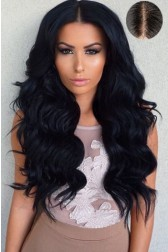 "Indian Remy Hair Body Wave,4.5"" Super Deep Middle Part Lace Front Wigs,Pre-Plucked Hairline"