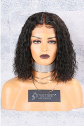 Textured Natural Curls Bob Lace Front Wig [Advanced Pre-Bleached Knots,Pre-Plucked Hairline,Pre-Added Removable Elastic Band]