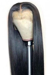 "Silky Straight 6"" Deep Part 360° Lace Wig, Pre-plucked Hairline,Removable Elastic Band"