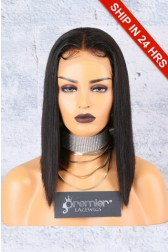 "A-Line Cut Bob Style 4.5"" Lace Front Wig,Deep Middle Part,Pre-Plucked Hairline,Average Cap Size"