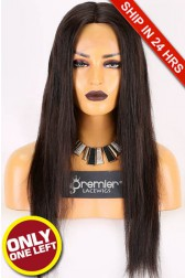 Super Deal 20 inches,Natural Color,Lace Front Wig Silky Straight Brazilian Virgin Hair,Average Size,150% Normal Density