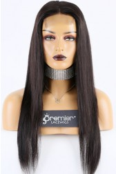 """Bone Straight 4""""x4"""" Lace Closure Wig Indian Remy Hair [Production Time 7 working days]"""