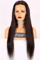 Super Thin Transparent HD Lace Full Lace Wigs, Indian Remy Hair Silky Straight,130% normal Density, Medium Size