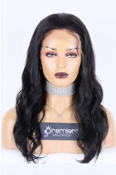 Affordable Full Lace Wig Body Wave, Indian Remy Human Hair 18 inches, Medium  Cap Size,120% Normal Density, Adjustable Straps