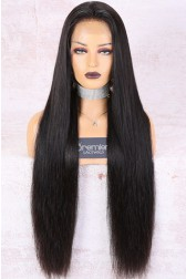 30 Inches Silky Straight 360 Lace Wig,Indian Remy Hair,Pre-Plucked Hairline