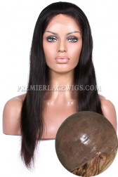 Full Thin Skin Wigs 100% Human Hairs Silky Straight { Not In Stock,Production Time 35 working days }