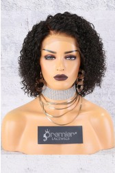 "13""x6"" Lace Frontal Wig,Side Part Textured Bob,10"" 150% Thick Density [Advanced Pre-Bleached Knots,Pre-Plucked Hairline,Removable Elastic Band]"