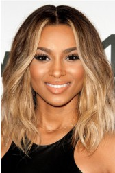 Ciara Bob Style Lace Front Wig,Virgin Hair Ombre Honey Blonde Color
