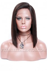 "A-Line Cut Bob Style,4.5"" Deep C Side Part,Pre-Plucked Lace Front Wig"