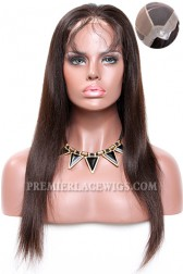 Thin Skin Perimeter Full Lace Wigs 100% Human Hairs Silky Straight {Not In Stock, Custom Production Time 80 working days}