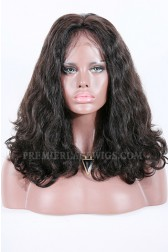 "Beyonce-Double Drawn Hair Lace Front Wig Bombshell Wavy Indian Remy Hair,220% High Density,4.5""Deep Part Space,Pre-Plucked Hairline{Production Time 15 working days}"