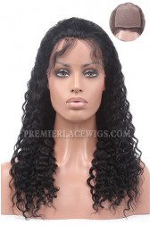 Deep Wave Indian Remy Hair Silk Top Full Lace Wigs