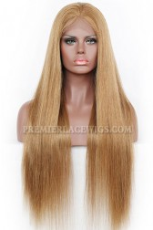 8# Color Silky Straight Indian Remy Hair Full Lace Wigs{Custom Wig Production Time 30 days}