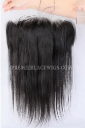 """Invisible Transparent 13""""×4"""" HD Lace Frontals, Indian Remy Hair Natural Color,Silky Straight"""