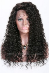 Imani- 13x3 Lace Frontal Wig Curly Style Indian Remy Hair 1B# 18 inches,150% Density,Average Size,Removable Elastic Bands{Production Time 10 working days}