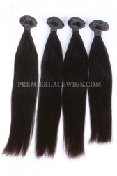 Peruvian Virgin Hair Natural Color ,Silky Straight, Hair Weaves 4 Bundles Deal