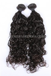 Loose Curl Natural Color Peruvian Virgin Hair Weave 2 Bundles Hair Deal